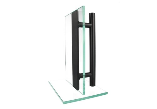 Türgriff T+flaches 25/300/400 schwarzes Paar für Glas