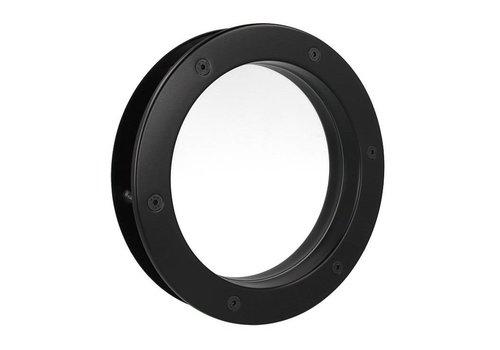 Zwarte patrijspoort B4000 400 mm + doorzichtig veiligheidsglas