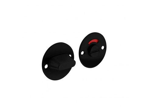 Fermeture de toilettes noire 8 mm 50x2mm plat rond en acier inoxydable