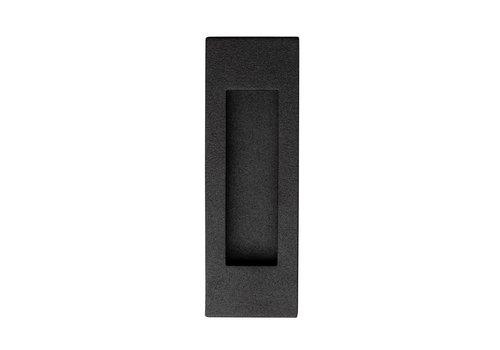 Zwarte rvs schuifdeurkom rechthoekig