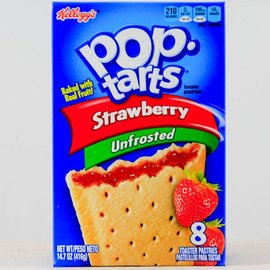Kellogs Kellogs Pop Tarts Unfrosted Strawberry