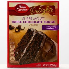 Betty Crocker Betty Crocker Triple Chocolate Fudge Cake Mix