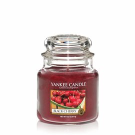 Yankee Candle Mittlere Kerze Black Cherry