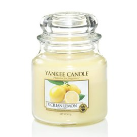 Yankee Candle Mittlere Kerze Sicilian Lemon