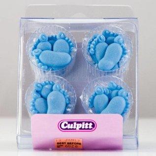 Culpitt Culpitt 12 Blue Feet Sugar Decorations