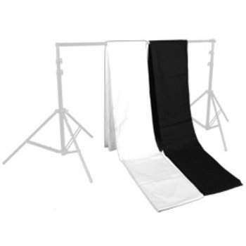 Walimex set van 2 Cloth Achtergronden 2,85x6m