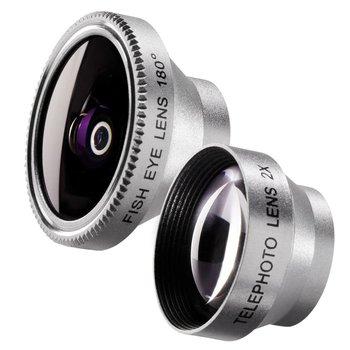 Walimex Fisheye en Tele Lens set 180 voor iPhone