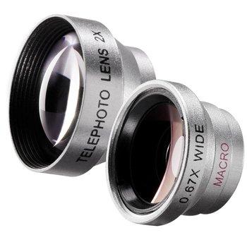 Walimex Macro en Wide Angle Lens set voor iPhone