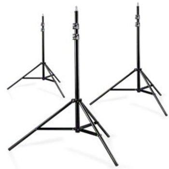 Walimex Set van 3 WT-806 Lampstatieven, 256cm.
