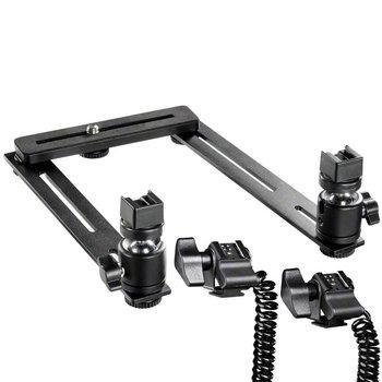 Walimex Macro FlitsRail Systeem Basis met kabel voor Canon