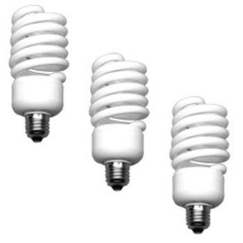Walimex Daylight Spiraalvormige Lamp 50W, 3 stuks