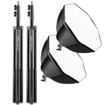 Walimex pro Set 2 Daylight 250 + Octagon+ tripod