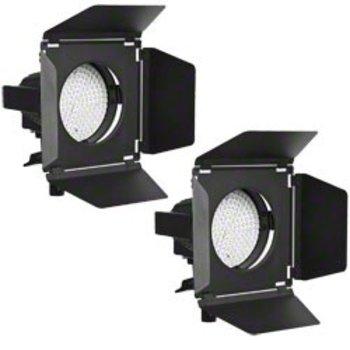 Walimex pro Set of 2 LED Spotlights + Barn Doors