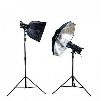 Lencarta Lencarta ElitePro 2 1200 Ws Lighting kit with 1 softbox & 1 umbrella