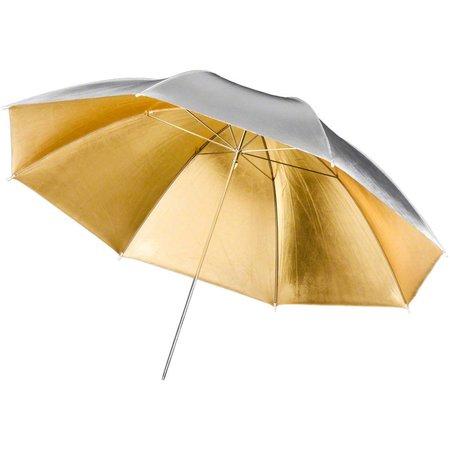 Walimex pro 2in1 Reflex Umbrella golden/silver, 109cm