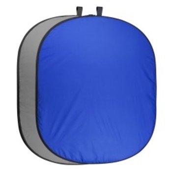 Walimex pro Opvouwbare Achtergrond 200 x 230 blauwe/Grijs