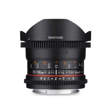 Samyang Samyang 12mm T3.1 VDSLR ED AS NCS fisheye voor diverse merken
