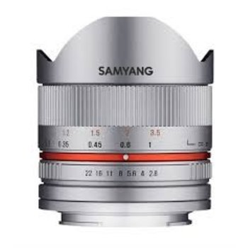 Samyang Samyang 8mm F2.8 UMC fisheye II M zilver for different camera brands