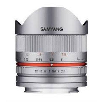 Samyang Samyang 8mm F2.8 UMC fisheye II M zilver voor diverse camera merken