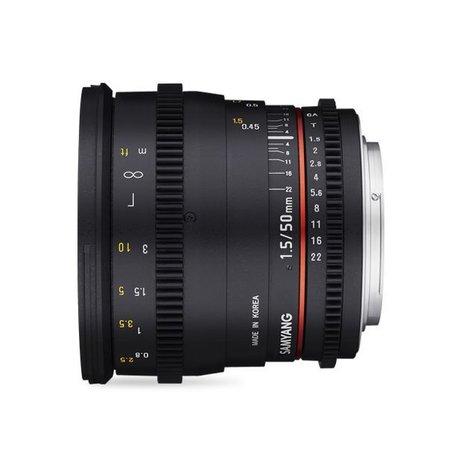 Samyang Samyang 50mm T1.5 VDSLR AS UMC for different camera brands