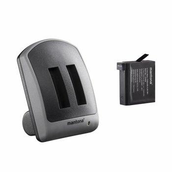 mantona Duo oplader voor GoPro Hero 4 1 batterij