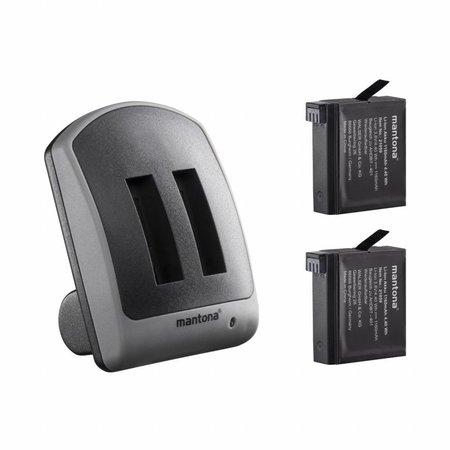 mantona Duo charger for GoPro Hero 4  2 batterys