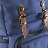 mantona photo backpack Luis blue, retro