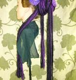 Dreadlocks Haarteil lila-schwarze Goth Dreads