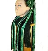 Green Black Goth Dreads Lolita Dreadlocks