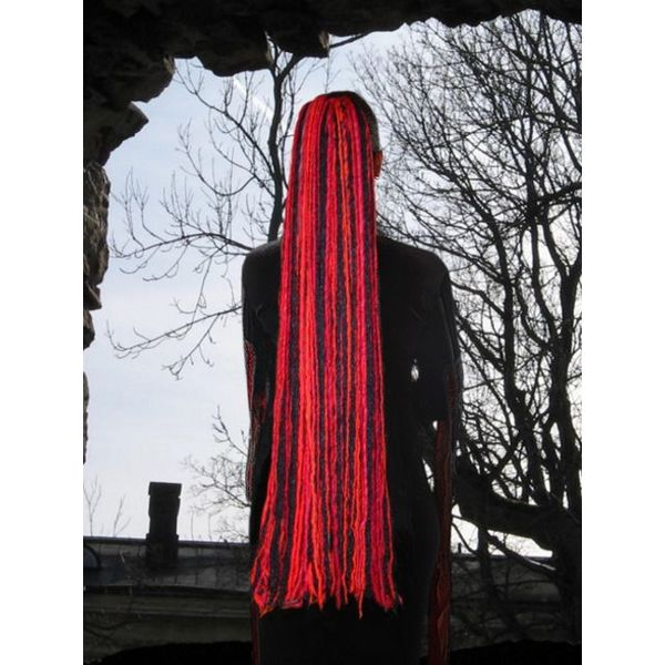 Witch Red Black Dreads
