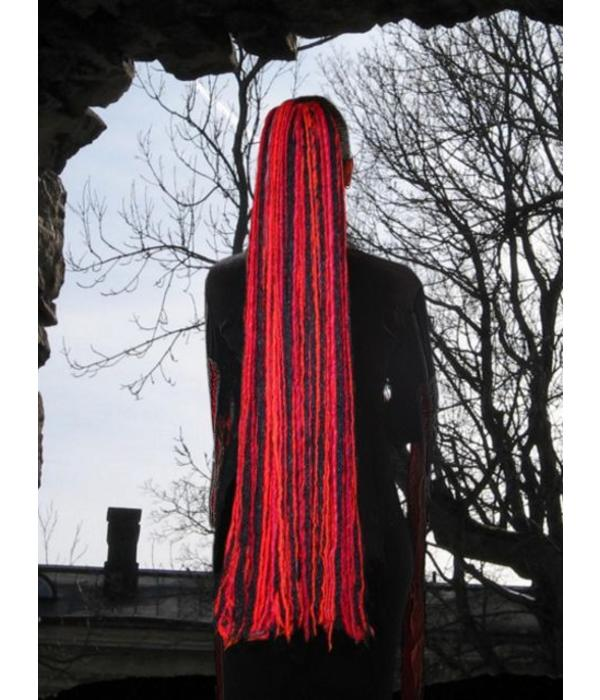 Witch Red Black Goth Dread Fall