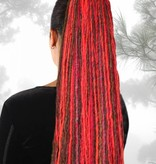 Dreadlocks Haarteil hexenrot-kastanie
