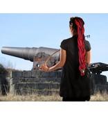 Dreadlocks Haarteil hexenrot-schwarze Goth Dreads