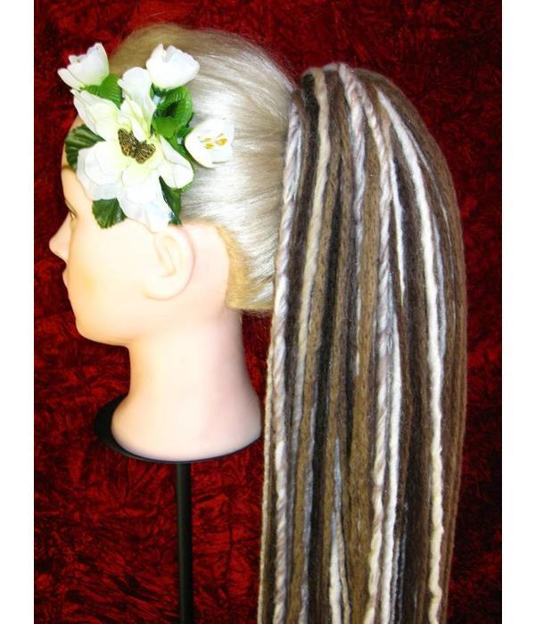 Dreadlocks Haarteil Blond Braun Gesträhnt