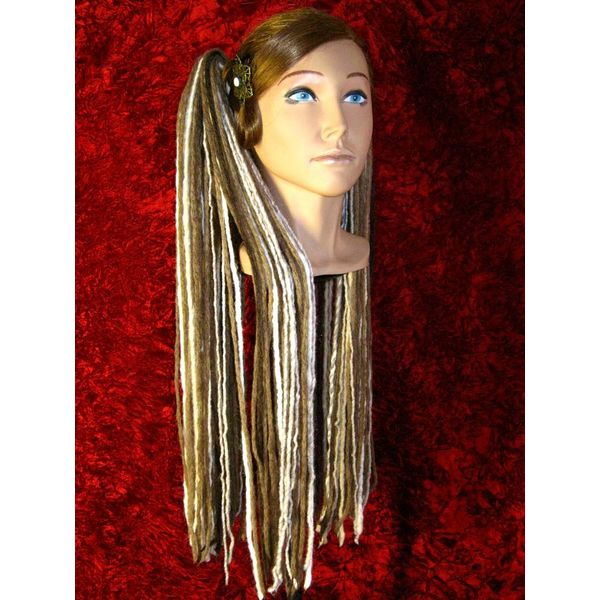 Blonde Brown Highlight Dreads