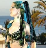 Black Paradise hip & hair tassel clip/ hair fall