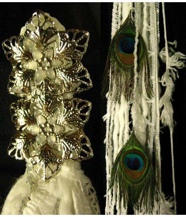 Snowflake Peacock hip & hair tassel clip/ hair fall