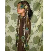 Steampunk Peacock hip & hair tassel clip/ hair fall
