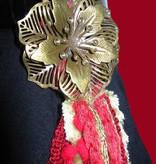 Gürtel- & Haarschmuck Red Passion Gold Pfau