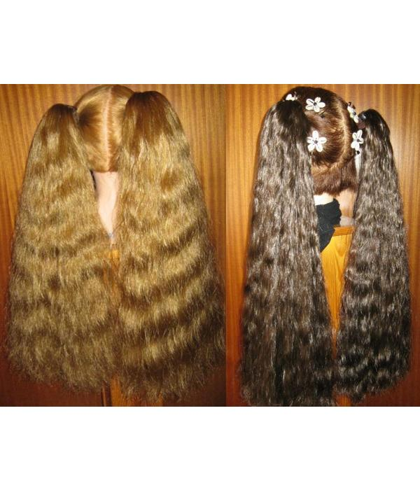2 Haarteile, Größe M, Wellen