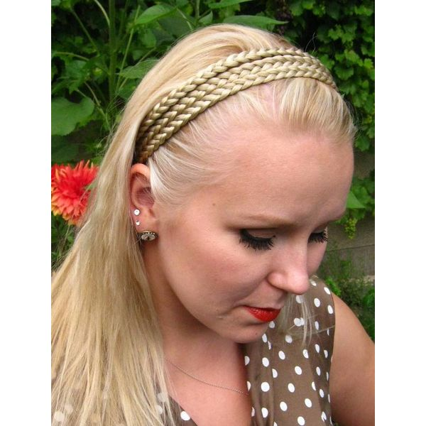 Dreifaches Zopf Haarband