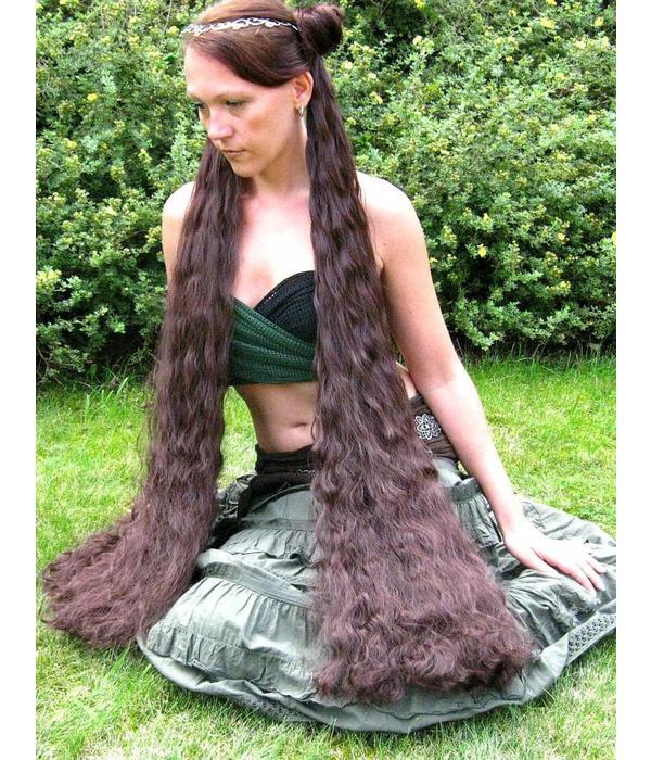 2 Haarteile, Größe S extra, Wellen