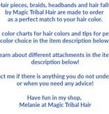 2 Haarteile, Größe S extra, wild style