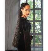 Gothic Haarteil, Größe M extra, gewelltes Haar