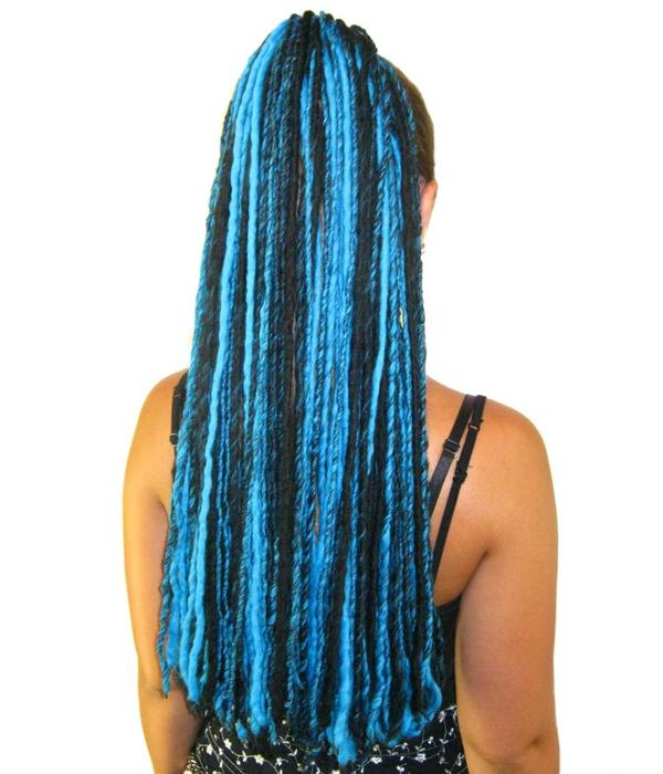 Turquoise Black Goth Dread Fall
