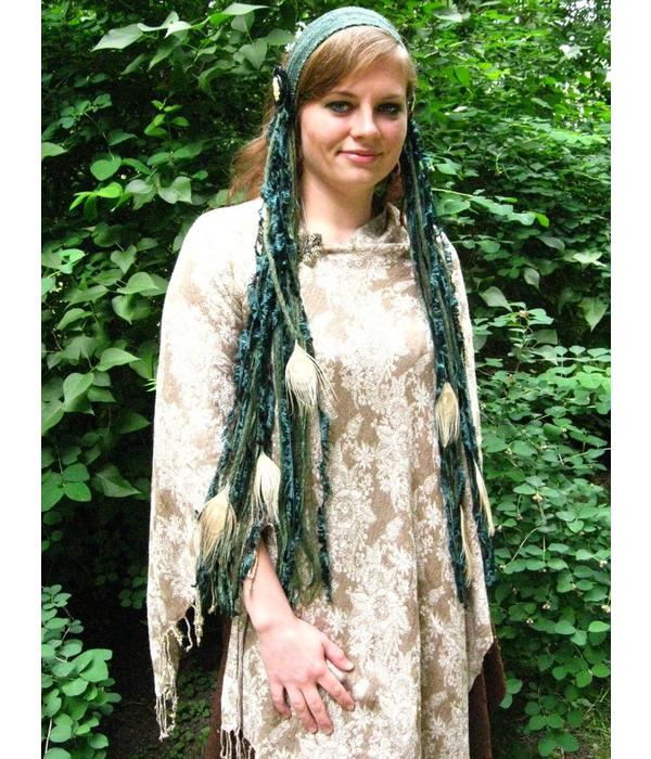 Emerald Fairy Peacock yarn fall belt clip