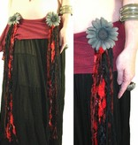 Red Passion Nostalgia Rose gothic belly dance yarn fall