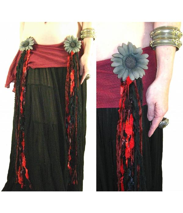 Red Passion Nostalgia belly dance yarn fall