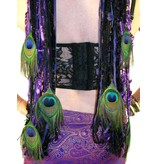 Belly Dance Belt & Hair Purple Passion Peacock