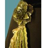 Haarschmuck Gürtelclip Goldener Pfau